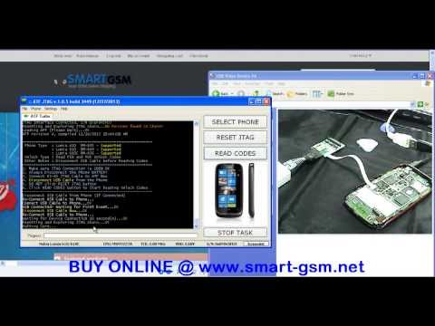 Nokia Lumia 610 Unlock By ATF 4 in 1 JTAG EMMC ISP MMC Adaptor
