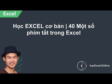 Hướng dẫn học EXCEL cơ bản - 40 - Một số phím tắt trong Excel