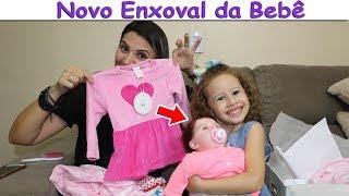 COMPRANDO NOVO Enxoval da Bebê Reborn ( ROUPINHAS SAPATINHOS)  - VALENTINA