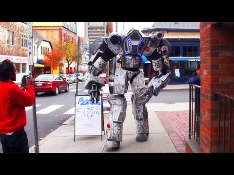 Real Life Giant Robot on the Rampage