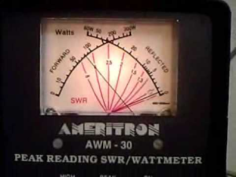 Ameritron AWM 30 HF SWR WattMeter Demonstrated