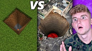 Real Life VS Minecraft.. (UNBELIEVABLE)