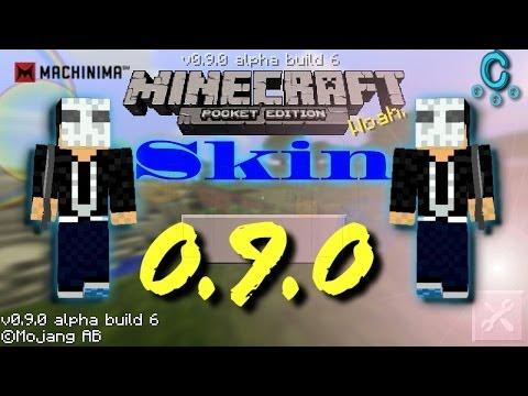 Como hacer y poner Skins...Minecraft Pe 0.9.0 Android