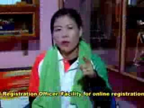Register today to Vote by Mary Kom- Election Commission of India (English)