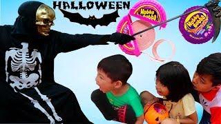 ABC bé Bi trò chơi Halloween thần chết thích 100% kẹo Hubba Bubba