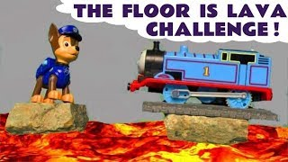 The Floor Is Lava Challenge Thomas & Friends and Paw Patrol Fun Toy Trains Story for Kids  TT4U