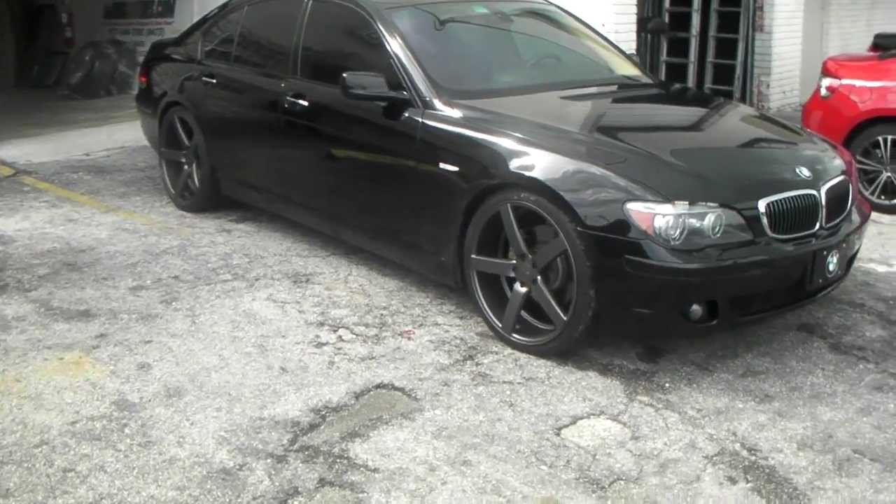 Bmw Rims 22 Inch >> www.DUBSandTIRES.com 22 Inch Vossen Wheels CV-3 CV3 Graphite Rims 2007 BMW 750I Concave Luxury ...