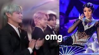 Bts Amazed A Cardi B S Performance At The Grammys Reaction