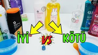 İyi vs Kötü Malzeme Slime Challenge - Good vs Bad Metarial Slime Challenge - Vak Vak TV