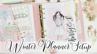 Christmas Planner Setup! Pastel & Wintery - Personal Wide Rings