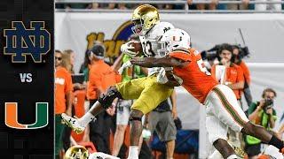 Notre Dame Vs Miami Football Highlights 2017