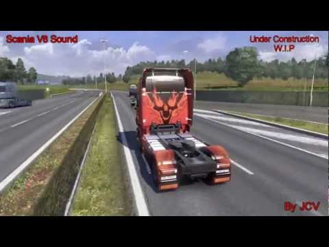 ETS2 Scania V8 Sound Mod (W.I.P) by JCV