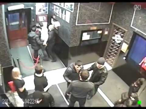 brutal fight in russian nightclub