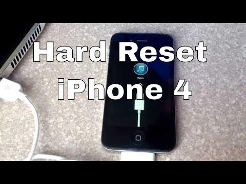 Hard reset iphone 4