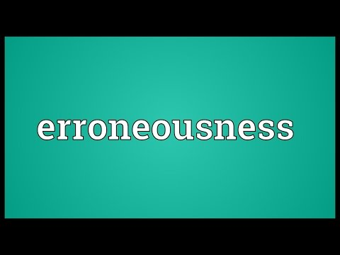 Header of erroneousness