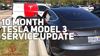 10 Month Tesla Model 3 Service Update