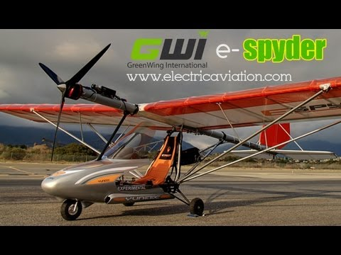 GreenWing, electricaviation.com, e-spyder electric powered light sport aircraft, Aero Expo
