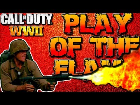 """COD WW2 Multiplayer Gameplay """"PLAY OF THE GAME"""" - Flamethrower Scorestreak! (Call of Duty WWII)"""