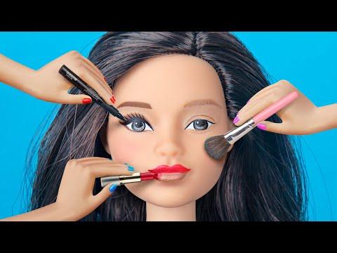 9 Weird Ways To Sneak Barbie Dolls Into Class / Clever Barbie Life Hacks