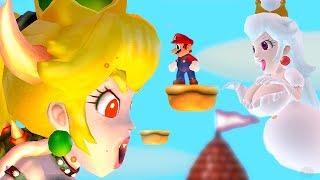 New Super Mario Bros. Wii - Mario Vs Bowsette & Boosette Final Boss