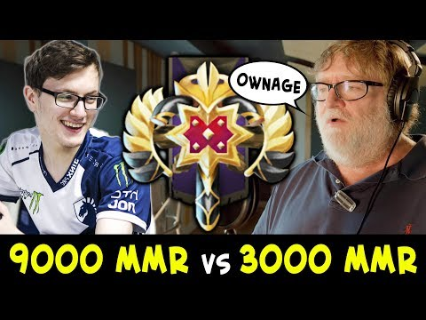 When 9000 MMR meets 3000 MMR — Miracle lane vs Legend
