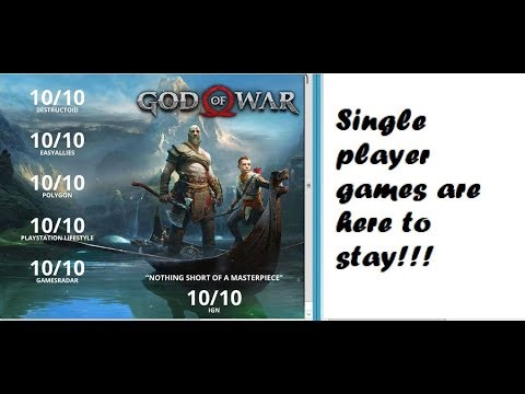 God of War Is Proof Why Singal Player Game Are Still Big