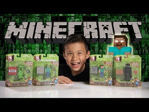 MINECRAFT FIGURE Review - Creeper, Enderman, Steve & Zombie!!!
