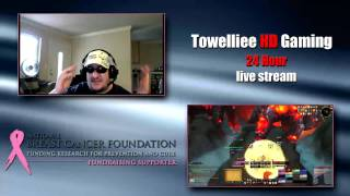 24 Hour Breast Cancer Awareness Live Streamathon twitch.tv/towelliee
