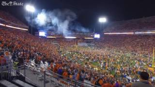 Clemson fans storm the field after beating South Carolina