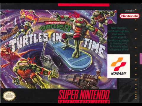 TMNT IV Turtles In Time Music - Lady Liberty Vanishes