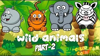 COLOR COUNT FUN| FARM ANIMAL SONG | LEARN WILD ANIMALS AND SOUNDS-Part-2