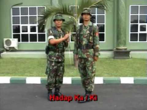 Peraturan Baris Berbaris (PBB) TNI materi HADAP KANAN, KIRI