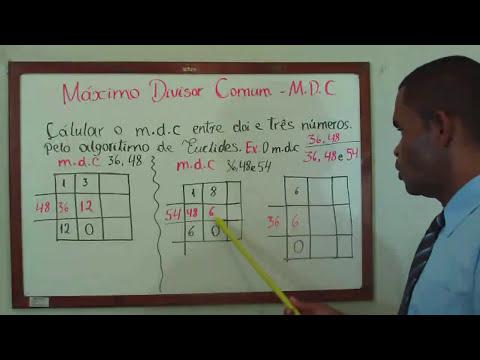 Máximo Divisor Comum (m.d.c) Pelo Algoritmo de Euclides, Aula Nº 19