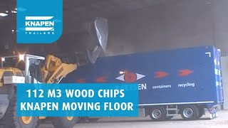 Wood Chips in Knapen Moving Floor Trailer