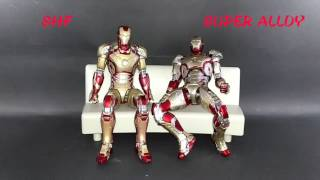 [NgoBar] Comparison : Super Alloy Ironman Mark 42 vs Shf Ironman Mark 42