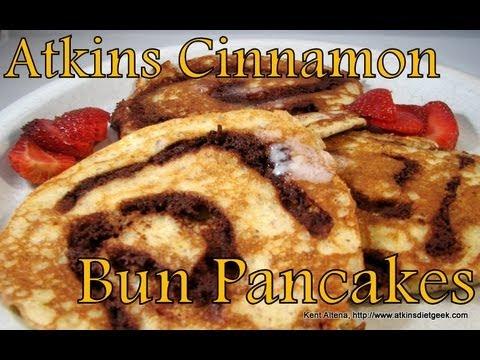 Atkins Diet Recipes: Low Carb Cinnamon Bun Pancakes (E-IF)