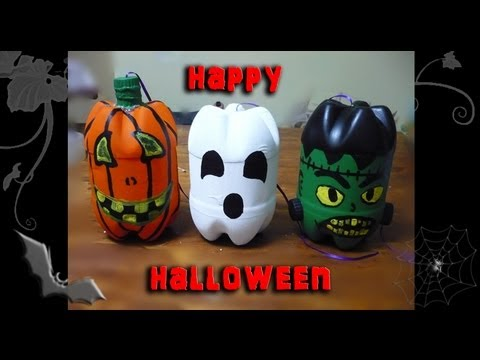 Diy decoraci n reciclada para halloween youtube for Decoracion de halloween