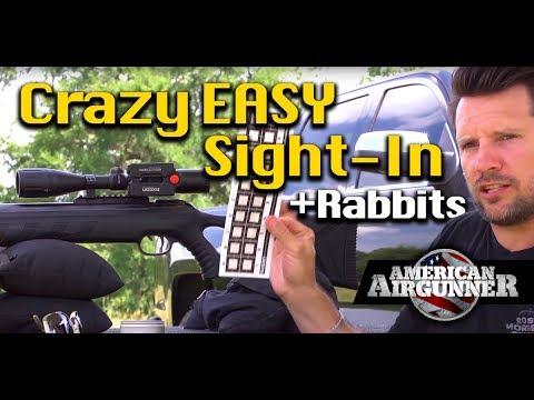 How to Easily Sight in Air Rifle plus Air Gun Hunting Rabbit