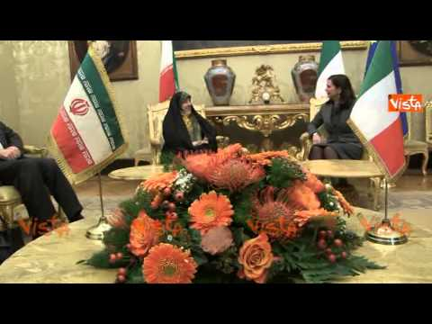 BOLDRINI INCONTRA VICEPRES REP ISLAMICA IRAN  MASOUMEH EBTEKAR 26-11-14