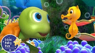 NEW! 10 Little Sea Horses | Underwater Compilation | Little Baby Bum