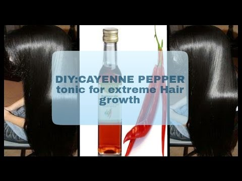 Grow your hair very fast with Cayenne pepper tonic naturally  AMAZING YOU