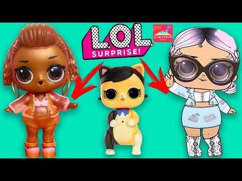 НОВИНКИ! ЗОЛОТАЯ КУКЛА ЛОЛ и ПИТОМЦЫ РОБОТЫ Куклы Лол Декодер Lol surprise pop-up store, interactive