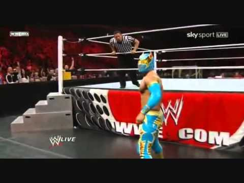 Sin Cara First Wwe Match video