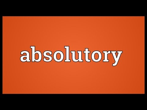 Header of absolutory