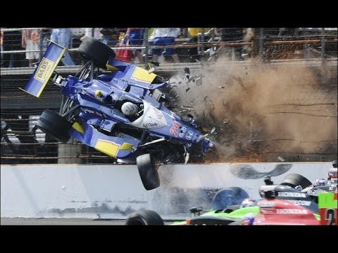 Mike Conway Huge Crash 2010 Indy 500 -- Spectacular! Video
