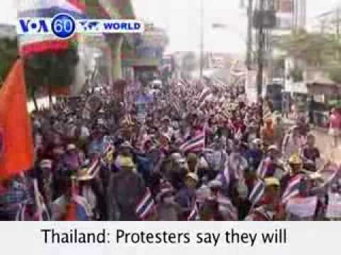 Thailand: Protesters say they will boycott but not obstruct Sunday's election- VOA60 World