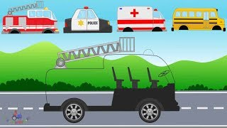 Fire Truck, Ambulance, Police Car - Learning Street Vehicles | Video For Kids - Emergency Cars