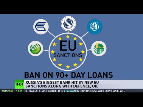 The European Union has imposed sectorial sanctions on five Russian banks, including the country's biggest, Sberbank, as part of economic steps that Europe, along with the US, have taken against Moscow over the crisis in Ukraine. RT's Peter Oliver reports. READ MORE: http://on.rt.com/5k7mmf  RT LIVE http://rt.com/on-air  Subscribe to RT! http://www.youtube.com/subscription_center?add_user=RussiaToday  Like us on Facebook http://www.facebook.com/RTnews Follow us on Twitter http://twitter.com/RT_com Follow us on Instagram http://instagram.com/rt Follow us on Google+ http://plus.google.com/+RT  RT (Russia Today) is a global news network broadcasting from Moscow and Washington studios. RT is the first news channel to break the 1 billion YouTube views benchmark.