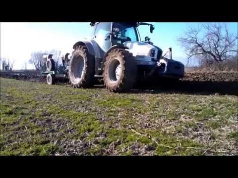 Aratura-plowing con Lamborghini Nitro 120 e trivomere Moro a Provesano (PN)