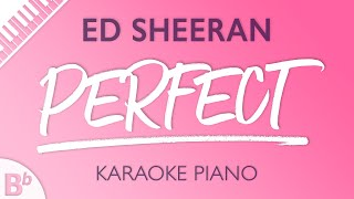 Download Lagu Perfect (Higher Key of Bb) [Piano Karaoke Instrumental] Ed Sheeran Gratis STAFABAND